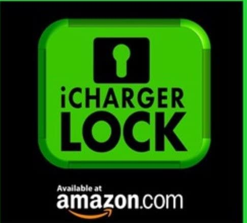 iChargerlock Charger /& Cord NOT Incuded The ONLY Apple iPhone Charger /& Cord Lock-No One Will take Your Charger Again Lock ONLY