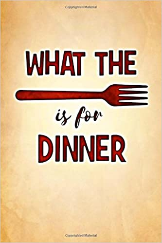 what the fork is for dinner blank meal planner family meal