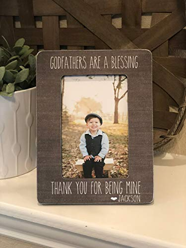 Gift for Godfather | Godfather Picture Frame | Personalized Frame Baptism Gift | Godfathers Are A Blessing | Fathers Day Gift for Godfather