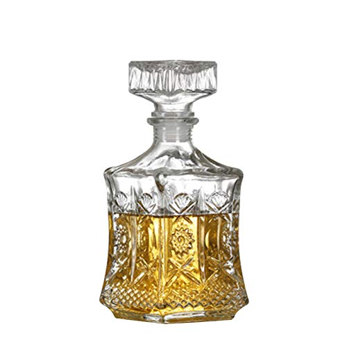 Liquer Decanters, Home Glass Decanter with Glass Stopper,Whiskey Decanter for Scotch, Liquor, Vodka, Wine or Bourbon ()