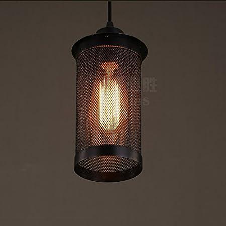 Modeen Loft Industria Retro Escaleras de Pasillo Lámparas de Hierro Hueco Lámpara de Proceso Vintage 1-luz de Metal Lámpara Colgante Restaurante Cocina Bar Granero Decoración lámpara de Techo Lámpara: Amazon.es: Hogar