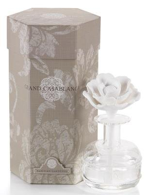 Grande Candle (Zodax Grand Casablanca Porcelain Diffuser, Tahitian Gardenia Scent)
