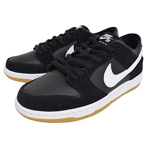 Nike Men's Sb Zoom Dunk Low Pro Black/white Gum Light Brown Skate Shoe (6)