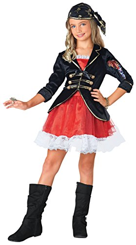 Pirate Captain Dress Up Costume, Medium (8-10)