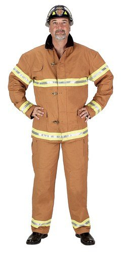 Aeromax Adult Fire Fighter Suit, Small, Tan