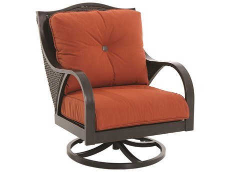 Sunvilla A105300-02-FCTB Indies Outdoor Black Wicker Swivel Lounge Chair - 34 x 30.75 x 39.75 in. price