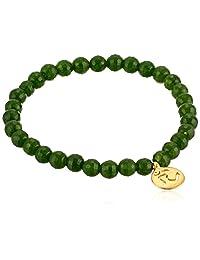 """Satya Jewelry""""Classics"""" Om Jade Stretch Bracelet"""