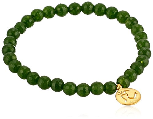 Satya Jewelry Classics Jade Om Stretch Bracelet - Jade Bead Beads Bracelet
