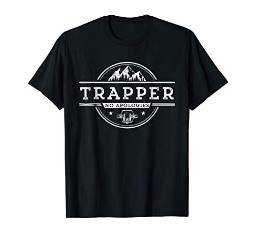 No Apologies Trapping Tee Steal Trap Design For Fur Traders