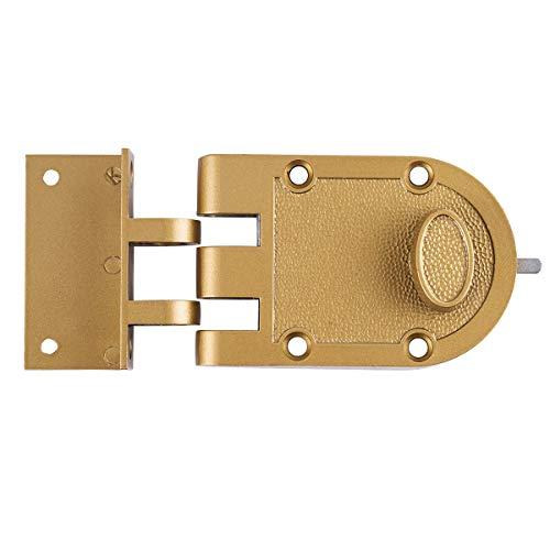 (Sumbin Guard Security Heavy Jimmy Proof Deadbolt,Door Lock Single Cylinder for Entry Door Gold)