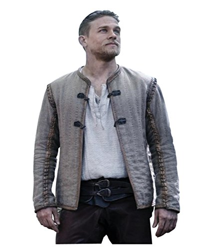 King Arthur Legends Of The Sword Movie Dress Brown Cotton Jacket For Mens L by Class Jackets