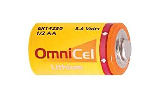 Aa Primary Lithium Battery - Omnicel ER14250 (LS14250) 1/2 AA 3.6 Volt Primary Lithium Battery (1200 mAh)