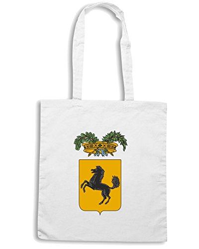 T-Shirtshock - Bolsa para la compra TM0118 provincia di napoli citta Blanco