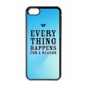 TYHde Cheap phonecase, Funny quotes, Everything Happens For A Reason picture for black plastic iphone 6 4.7 case ending
