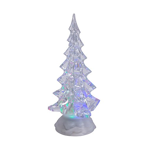 - Kurt Adler Battery Operated Acrylic Lighted Christmas Tree, 10-Inch
