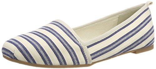 Tamaris 24668, Mocassins Femme, Noir Bleu (Navy Stripes)