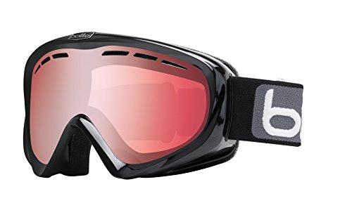 Bolle Y6 OTG Goggles, Shiny Black, Vermillion Gun - Over Goggles Ski Glasses