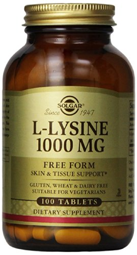 Solgar L-Lysine Tablets, 1000 mg, 100 Count (L-lysine 1000 Mg 100 Tablets)