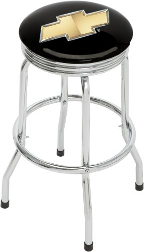 Chevrolet Bowtie Single Foot Ring Barstool with Swivel (Bar Stool Single Foot Ring)