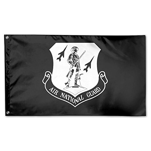 UDSNIS Air National Guard Garden Flag 3 X 5 Flag For Holiday Seasonal Decor Banner Black