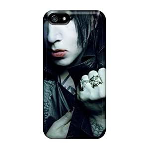 Shockproof Hard Phone Cover For Apple Iphone 5/5s (AYa746vzWL) Customized Colorful Marilyn Manson Band Pattern