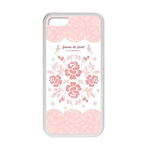 Personalized Creative Cell Phone Case For iPhone 5C,pink flowers