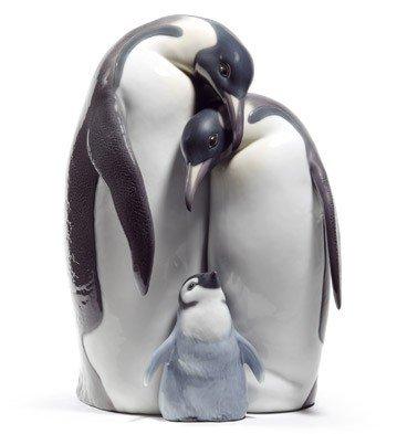 Lladro Penguin Family Porcelain Figurine