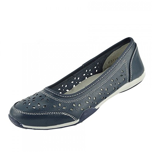 walk Kick cushion comfortable Ladies Navy 2 shoes Footwear rqB1I