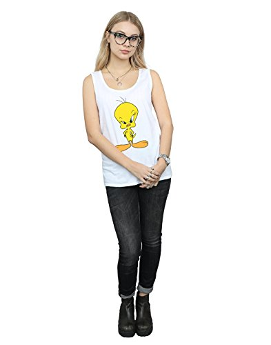 blanco Looney Cult Top Womens Tunes Angry Absolute Tank Tweety H8wZ5qZ