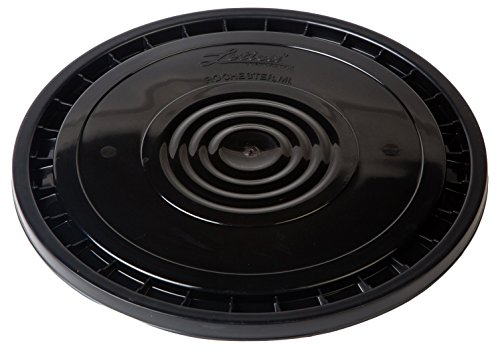 Hudson Exchange Reusable Easy Peel Lid for 3.5, 5, 6, and 7 Gal Buckets, HPDE, Black (Lid Black Bucket)