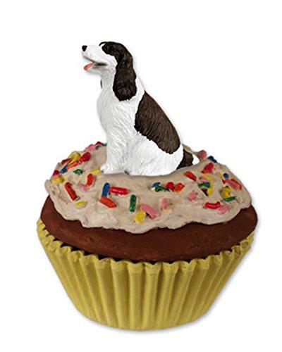 Liver & White Springer Spaniel Dog Cupcake Trinket-Keepsake Box