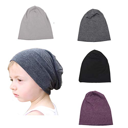 SimleShine 4 Packs Baby Toddler Soft Cute Hats Knit Beanie Worm Winter ()