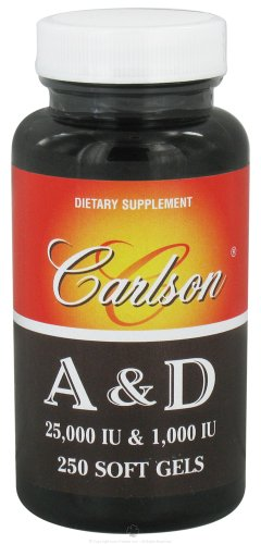 Carlson Labs Vitamin A and D, 25000/1000 IU