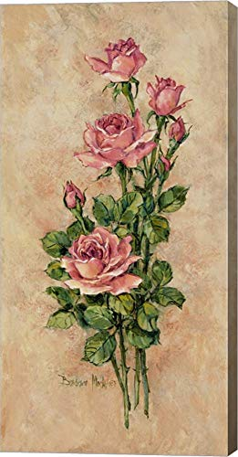 Wood Rose II by Barbara Mock Canvas Art Wall Picture, Gallery Wrap, 14 x 28 inches