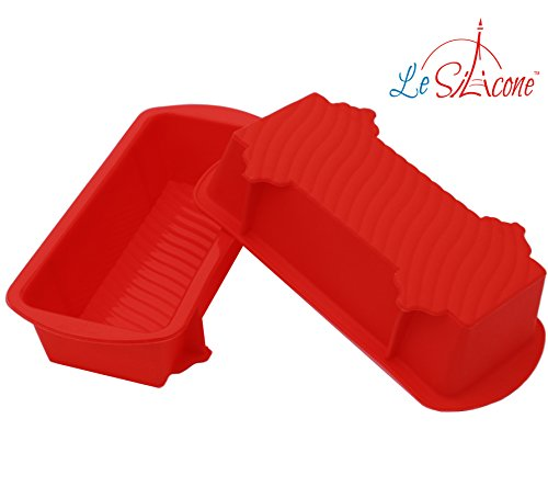 Le Silicone, Set of 2 Nonstick Small Petite Silicone Loaf Pans (Loaf Pan 7 X 3 compare prices)