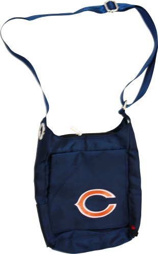 NFL Chicago Bears Women's Color Sheen Cross Body Purse, Navy
