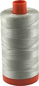 Aurifil Thread 5021 LIGHT GREY (Lt. Khaki) Cotton Mako 50wt Large Spool 1300m