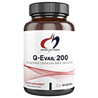 Designs for Health Q-Evail 200 - 200mg CoQ10 Highly Bioavailable Ubiquinone - Coenzyme Q10 (60 Softgels)