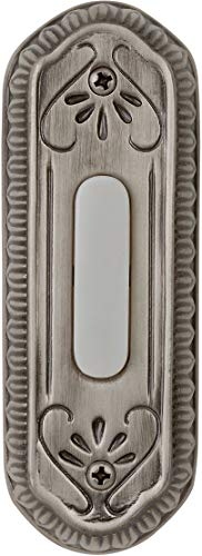 Pewter Series Designer Antique - Craftmade PB3034-AP Designer Surface Mount Lighted Doorbell LED Push Button, Antique Pewter (4.25