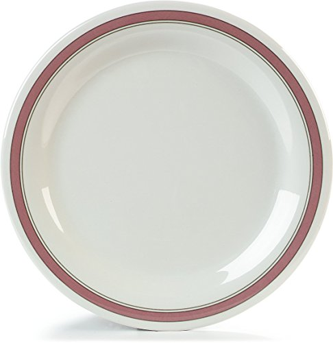 Carlisle 43003906 Durus Narrow Rim Melamine Dinner Plate, 10.5
