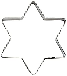 Cybrtrayd Parent/Child Cookie Cutter Set, 5-Inch, Star Six Point