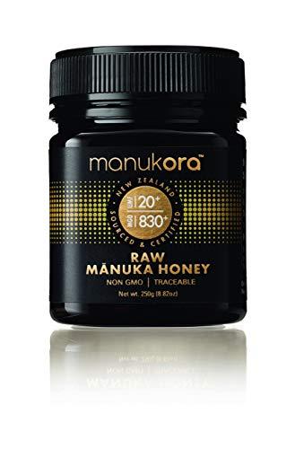 Manukora UMF 20+/MGO 830+ Raw Mnuka Honey (250g/8.8oz) Authentic Non-GMO New Zealand Honey, UMF & MGO Certified, Traceable from Hive to Hand