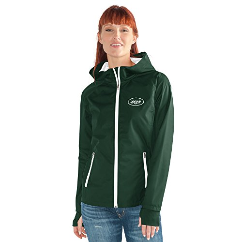 GIII For Her NFL New York Jets Women's Onside Kick Light Weight Full Zip Jacket, Medium, - Full Jacket Licensed Zip