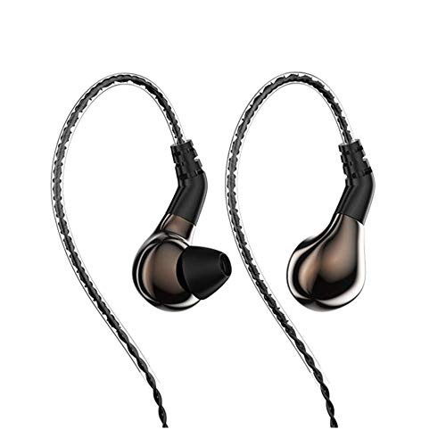 BLON BL-03 Earphones Yinyoo Blon 03 Hearphones Bass in-Ear Earphones Earbuds with 10mm Carbon Diaphragm Dynamic Driver and Detachable 2pins 0.78mm Cable(Brown Without mic)
