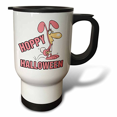 3dRose Dooni Designs Random Toons - Hoppy Halloween Funny Bunny Costume - 14oz Stainless Steel Travel Mug (tm_104216_1) for $<!--$24.99-->