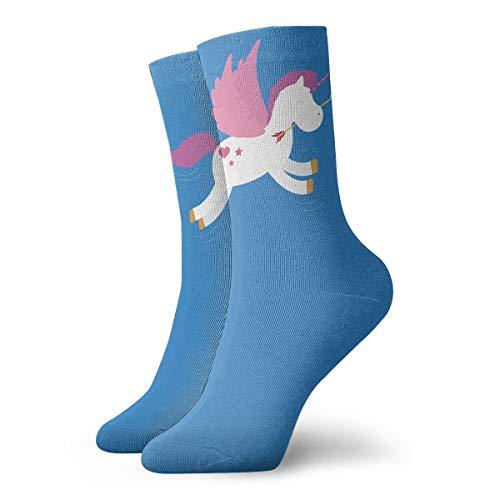 YUANSHAN Socks Unicorn Flying Horse Women & Men Socks Soccer Sock Sport Tube Stockings Length 11.8Inch