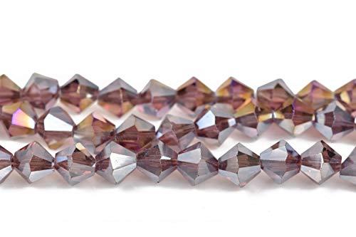 ShopForAllYou Design Making 8mm Amethyst Purple AB Bicone Crystal Beads Transparent fct ~35 Beads bgl1458 ()