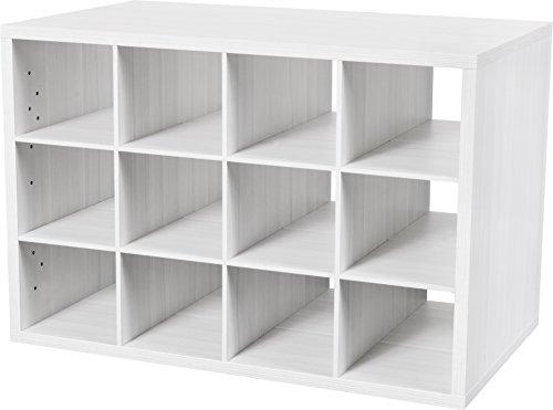 Organized Living freedomRail 12-Cubby Shoe Storage OBox -...