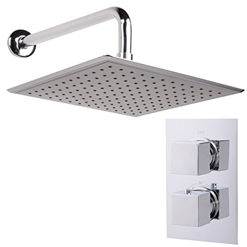 Concealed Shower Kit Mixer System Set Thermostatic Chrome Better Bathrooms Outlet