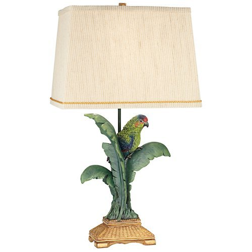 kathy ireland Pacific Coast Lighting Tropical Parrot Table Lamp